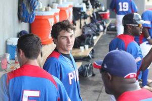 Diamond Director student Nick Longhi chats with CJ Stewart during the 2012 USA Baseball Tornament of Stars