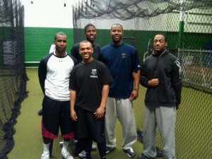 (From L-R) Diamond Directors' MLB clients include: LJ Hoes (Houston Astros), Dexter Fowler (Houston Astros), Jason Heyward (Atlanta Braves) and Scott Robinson (Colorado Rockies, MiLB Affiliates). Over the years, CJ Stewart taught them to teach themselves.